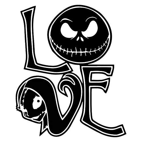 Nightmare Before Christmas Love Sally and Jack Decal Vinyl Sticker|Cars Trucks Vans Walls Laptop| Black |5.5 x 4.5 in|MAZ-353