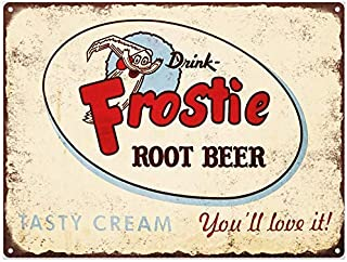 Fabri.YWL Frostie Root Beer Soda Pop Ad Metal Sign Repro 12