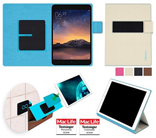 reboon Hülle für Xiaomi Mi Pad 2 Tasche Cover Hülle Bumper | in Beige | Testsieger