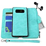 MODOS LOGICOS Case for Samsung Galaxy Note 8, [Detachable Wallet Folio][2 in 1][Zipper Cash Storage][14 Card Slots 1 Photo Window] PU Leather Purse with Removable Inner Magnetic TPU Case - Teal