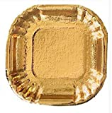 Mini Square Pastry Tray ,Gold Mini Dessert Plates ,Pastries, Appetizers , Appx. 4 x 4 - 50 pc. Single Serving Trays