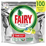 Fairy Platinum - Spülmaschinentabs All-In-One 100 Kapseln Zitrone Lemon Geschirrspültabs,...