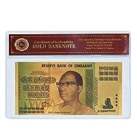XMSM ジンバブエ$ Z100兆/ 100 Quintrillion / 5 Octillion / 100 Decillionドル金箔紙幣のレプリカ紙幣ビジネスギフト (色 : Dececillion Sleeve)