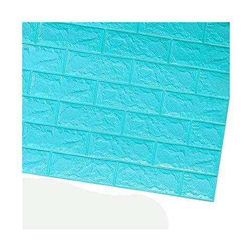 WHYBH HYCSP Tapete Ziegel Aufkleber Raum Küche Selbstklebende Hintergrund Dekoration wasserdichte Wanddekoration Aufkleber (Color : C05 Brick Sea Blue)