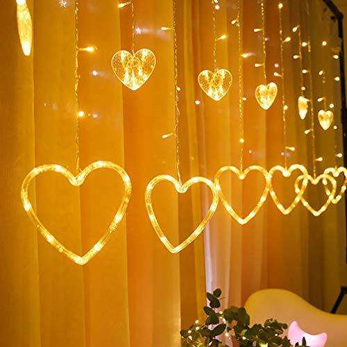 SOIMISS Día de San Valentín Luz de Cadena Led Corazón Hada Luz...