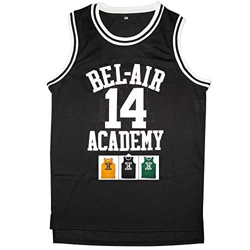 Kobejersey 14 Bel Air Academy Basketball Jersey S-XXXL (Black, S)
