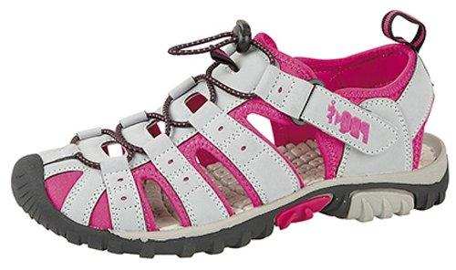 Sandalias de senderismo de mujer, cierre de velcro, color Gris, talla 40
