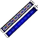 KZKR Upgraded Aquarium LED Light Full Spectrum 36 - 48 inch Hood Lamp for Freshwater Marine Plant Multi-Color Decorations Light 90 - 120 cm