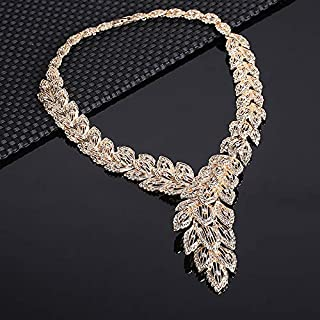 Accessories Sets Summer Style Crystal Gold Plated Bridal Necklace Bracelet Earrings Rings Set