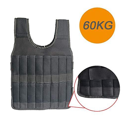 LSHOME Gewichtsweste Weighted Vest Adjustable Loading Weight Jacket Boxing Training Weste Für Männer Frauen 60Kg,Black 60kg
