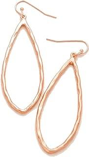 Best hammered rose gold hoop earrings Reviews