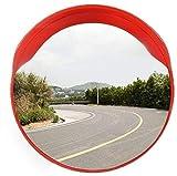 F.L.S Espejo de Tráfico Convexo de Seguridad Estacionamiento irrompible Tráfico Espejo, 80 cm de plástico de Gran Angular de Lente de Seguridad Montaña Zona Carretera Convexo de Seguridad Espejo
