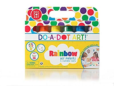 Do A Dot Art! Markers 6-Pack Rainbow Washable Paint Markers, The Original Dot Marker from Do A Dot Art