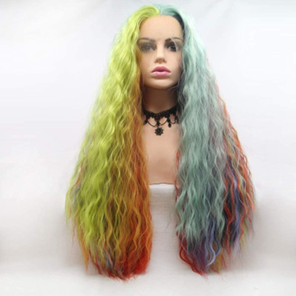 Wigs Chemical Japan Maker New Fiber Front Lace Headge Mixed Cheap Multicolor Color Wig