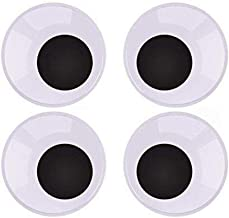 "Sohapy 4 Pcs 3"" Black Giant Googly Eyes with Self-Adhesive,Craft Eyes with Washers for Doll, Puppet, Plush Animal Making"
