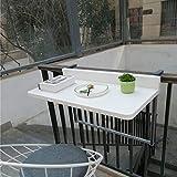 Ailj Table De Sol Murale, Table Pliante Suspendue en Aluminium Table Suspendue Balcon Bureau...