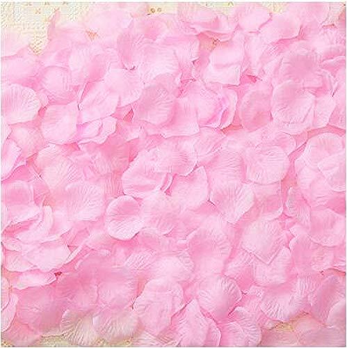 CHSYOO 1000 x Confeti Flores pétalos Rosas Artificiales, Decoraciones para Bodas, cumpleaños, Despedidas Soltera, San Valentín, propuesta Matrimonio, Rosa Claro