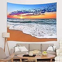 GOOESING タペストリー リビングルーム用 トロピカルオーシャン 夏の海 ビーチ 波の雲 日の出 おしゃれなタペストリー 壁掛け装飾