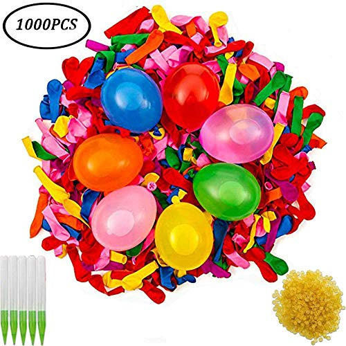 BESTZY Wasserbomben Luftballons Wasserballons Water Balloons,Einschließlich 1000 Luftballons, 1000...