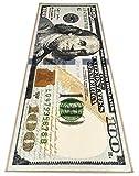 Money Rugs 100 Dollar Bill Runner Area Rug for Living Room Kitchen Rug Laundry Runner Rug Bedroom Bathroom Mat (31.5' x 78.7')