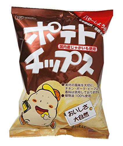 創健社 ポテトチップスバター醤油味 60g ×5個