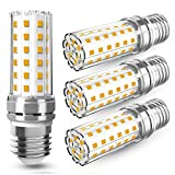 4 Pezzi 12W LED E27 Lampadine LED di mais, 100W equivalenti a incandescenza, Luce Bianca Calda 3000K 1450LM, CRI80+, non dimmerabile, Nessun Sfarfallio, Edison mais Lampadina