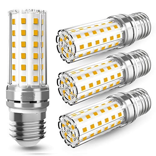 4 Pezzi 12W LED E27 Lampadine LED di mais, 100W equivalenti a incandescenza, Luce Bianca Calda 3000K 1450LM, CRI>80+, non dimmerabile, Nessun Sfarfallio, Edison mais Lampadina