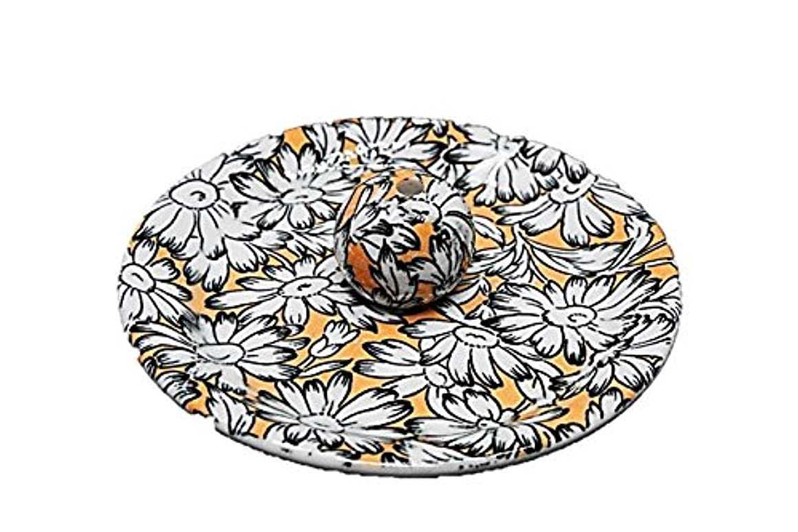比較乱れジョージスティーブンソン9-31 マーガレット オレンジ 9cm香皿 お香立て お香たて 陶器 日本製 製造?直売品