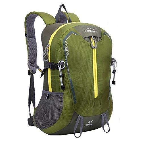 Diamond Candy Zaino da Trekking Outdoor Donna e Uomo con Protezione Impermeabile per alpinismo arrampicata equitazione ad Alta Capacitš€ borsa da viaggio,Multifunzione, 32 litri Militare verde