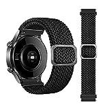 BoLuo 22mm Correa para Xiaomi Haylou RT LS05S/OnePlus Watch Bandas Correa,Nylon Reloj Recambio Brazalete Correa para Yamay Sw022/Imilab Kw66/Ticwatch GTX/CXB01/Polar Grit X/Vantage M/M2 (negro)