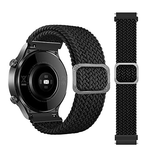 BoLuo 20mm Armband Kompatibel mit Huami Amazfit GTS 2 Mini,Nylon Ersatzband Verstellbares Weiches Silikonband,Uhrenarmband Armbänder Strap für Huami Amazfit GTS 2E/GTS 2/GTR 42MM/GTS (schwarz)