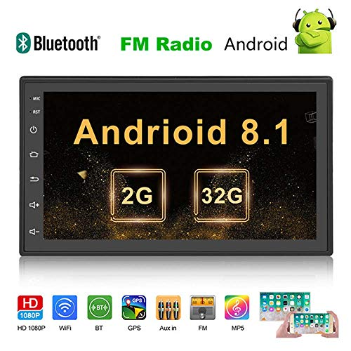 YELLOL Ospite Stereo Autoradio, Android da 7 Pollici Auto Universale di Navigazione Integrato Macchina MP5 4 Radio GPS Android 8.1 del Navigatore,2+32G