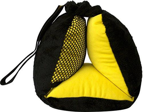 Bubble Bum Sneck Neck Pillow, Black/Neon Yellow