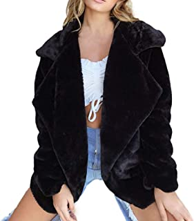 Toimoth Women Winter Coat Keep Warm Outerwear Loose Big Collar Fur Coat