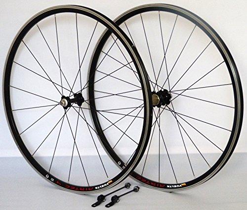 28 Zoll Fahrrad Laufradsatz Rennrad Airtec 4 Hohlkammerfelge schwarz JoyTech schwarz NIRO schwarz 20/24 Loch