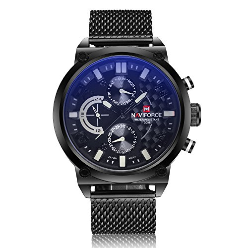 Reloj analógico de pulsera para hombre, de la marca Naviforce, de estilo militar...