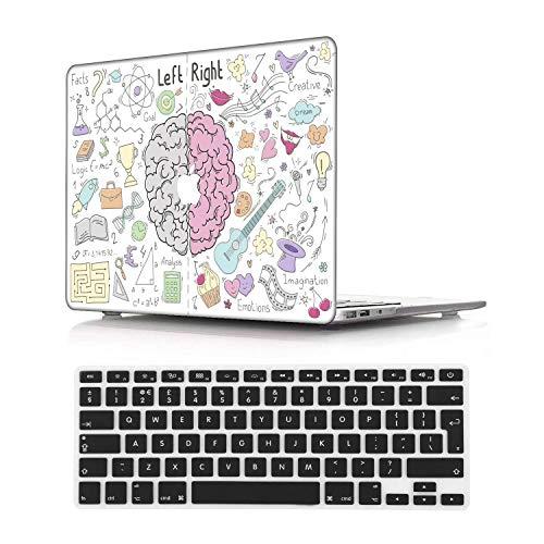 NEWCENT MacBook Air 13' Case,Plastic Ultra Slim Light Hard Case UK Keyboard Cover for Older Version MacBook Air 13.3 Inch(Model:A1369/A1466),Creative A 85