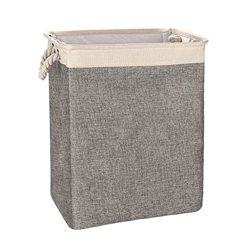 Discover Bargain LHQ-HQ Laundry Hamper Organizer Foldable Cotton Linen Square Hamper Storage Basket ...