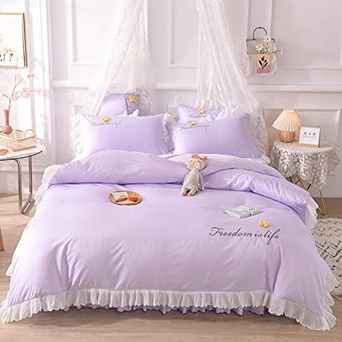 funda de edredón juego máquina-Princesa feng shui lavado de seda cama linda camara cama soporte para estudiantes dormitorio dormitorio suite, rey doble arena cama doble cama individual almohada conju