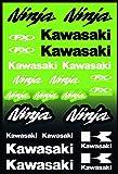 Kit Pegatinas ADESIVI Compatible para Kawasaki Ninja PATROCINADOR Moto Cross Enduro Casco (60)