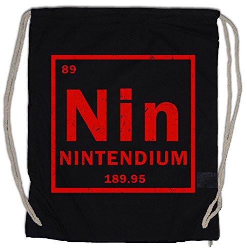 Urban Backwoods NIN Bolsa de Cuerdas con Cordón Gimnasio Tendium Periodensystem Nintendium...