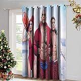 DRAGON VINES Cortinas opacas para sala de estar, cortinas decorativas Dwayne Johnson guardianes de la bahia evitar que la luz brille juego de 2 paneles de 62 x 72 cm