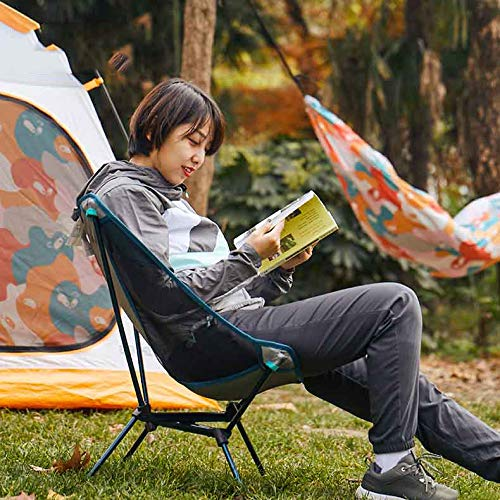 GWFUR Silla de Camping Silla Plegable Ultraligera y Portátil con Bolsa de Transporte, Silla para Acampar Fácil Transporte, para Playa,Senderismo,Pesca y Acampada Soporta hasta 110 K