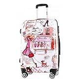 Print Trolley Bags Bowatex Motiv Reise Koffer Dehnfalte Paris Frau XL 76 cm