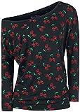 Rock Rebel by EMP Fast and Loose Mujer Camiseta Manga Larga Negro L, 95% Viscosa, 5% elastán, Ancho