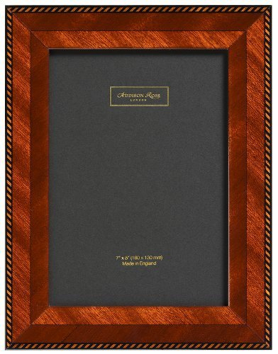 Addison Ross, Marquetry Photo Frame,8x10, Brown Rope Fiber Back, 8 x 10 Inches by Addison Ross