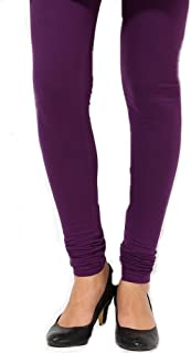 Beautiful Purple Churidar Leggings and Dupatta Set