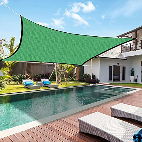 JINTAO 30 \'x 40\' Aquare Green Sun Shade Segel, 95{e283cc99b50cbd1392603066639f50568179263080bb02d3e7c1f9adfb42a52d} UV-Block-Überdachung, rechteckige Markisen-Überdachung für Garten-Hinterhof-Pergola-Swimmingpool (2 * 2 M)