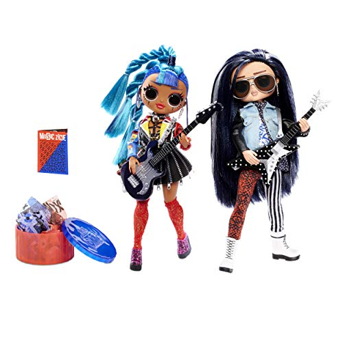 L.O.L. Surprise! O.M.G. Remix Rocker Boi and Punk Grrrl 2 Pack – 2 Fashion Dolls with Music