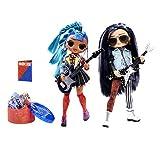 LOL Surprise OMG Remix Muñecas de Moda , Coleccionables , Ropa y Accesorios de Diseñador , Rocker Boi & Punk Grrl , Paquete de 2